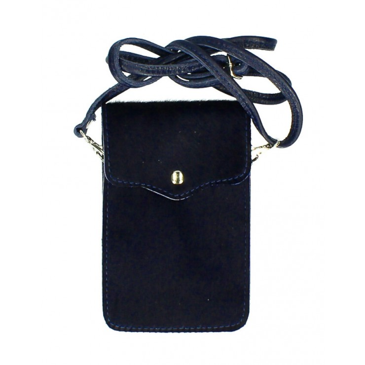 Cavallino mobile phone shoulder strap MI201 dark blue Made in Italy