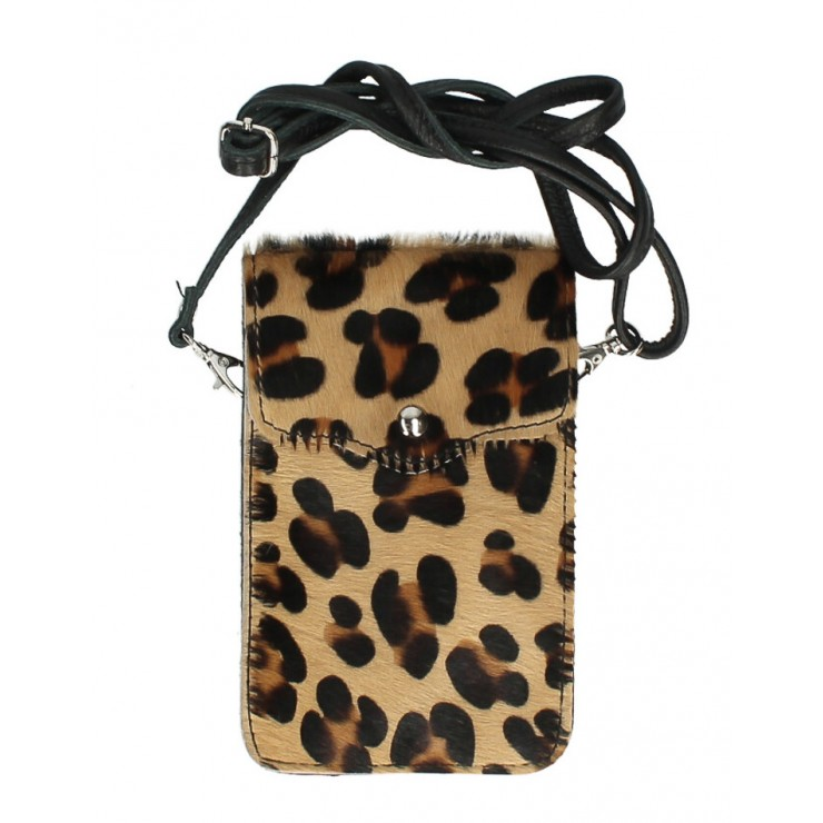 Cavallino mobile phone shoulder strap MI201 leopard Made in Italy