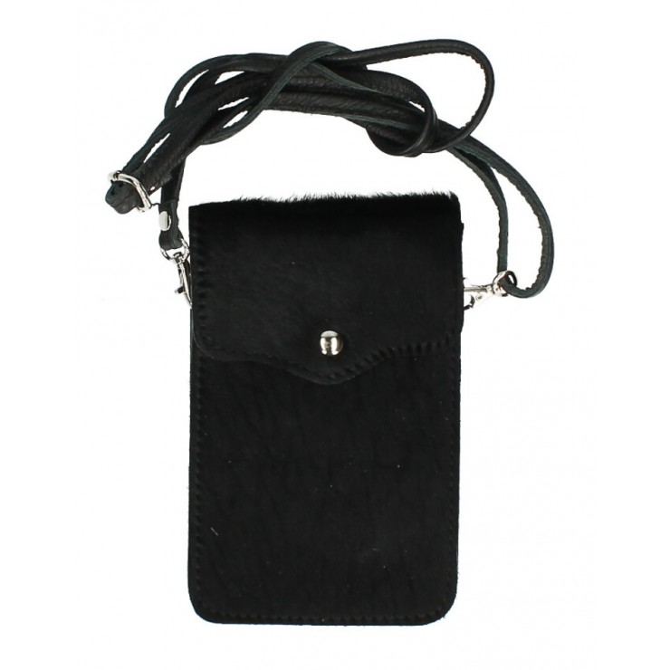 Cavallino mobile phone shoulder strap MI201 black Made in Italy