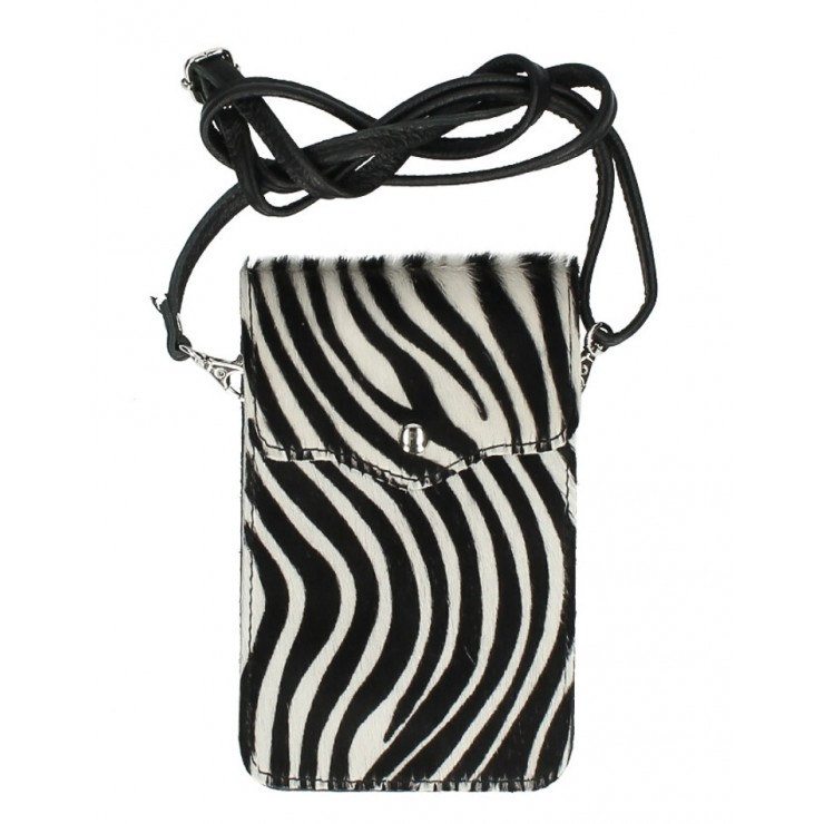 Cavallino mobile phone shoulder strap MI201 zebra Made in Italy