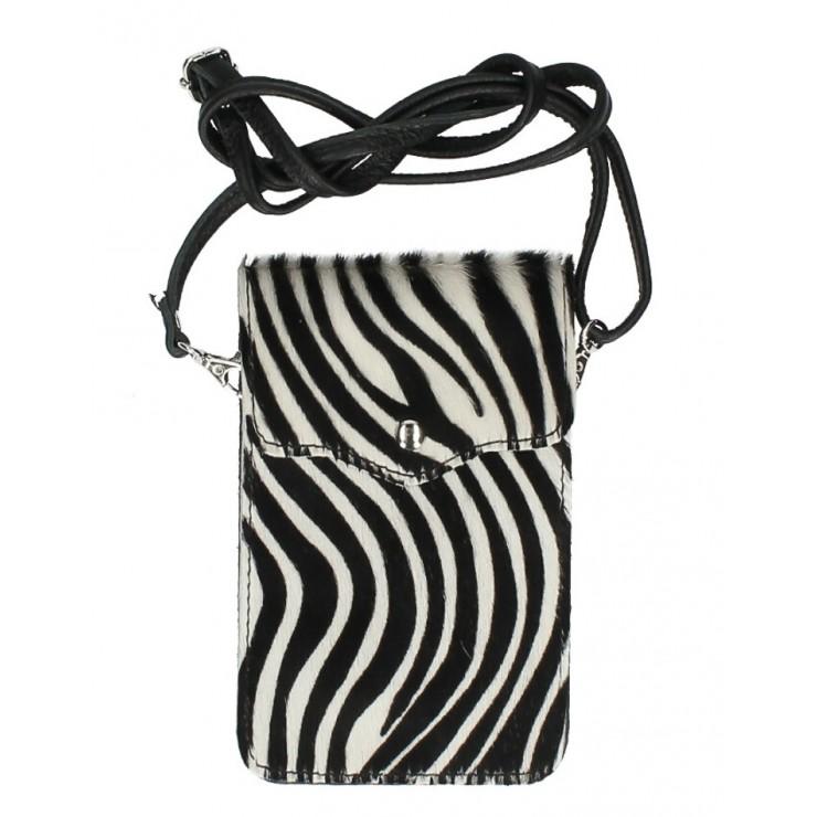 Púzdro na mobil zo srste MI201 zebra Made in Italy