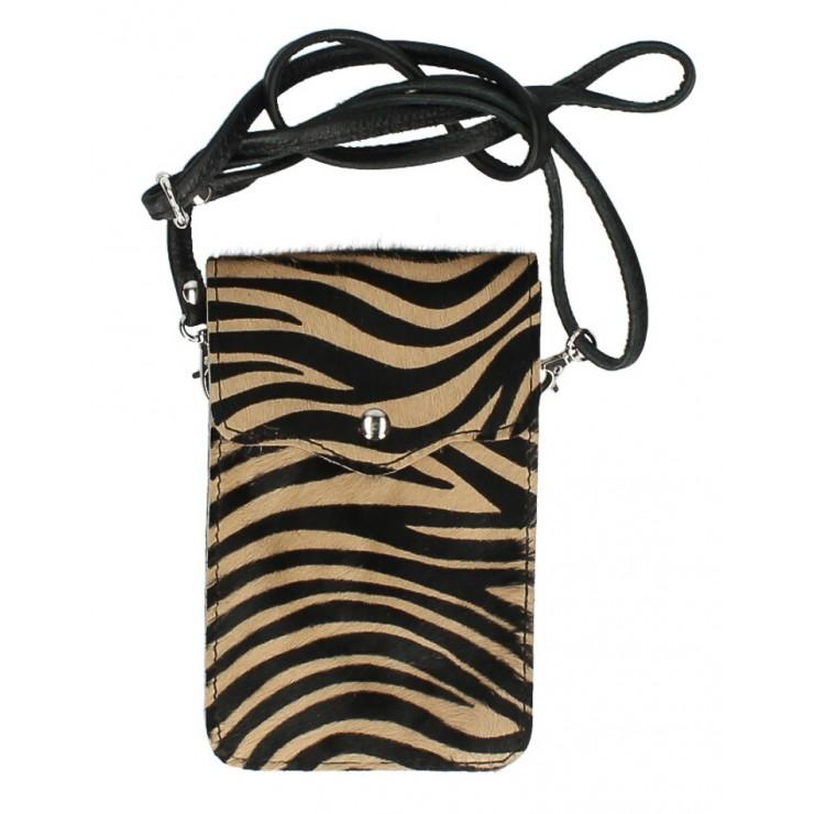 Púzdro na mobil zo srste MI201 tmavá zebra Made in Italy