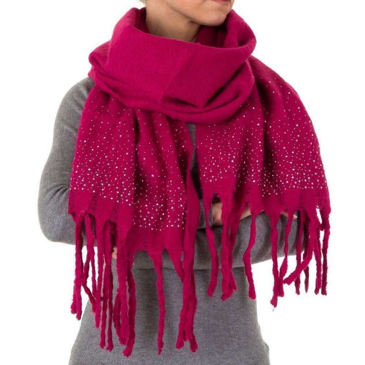 Ladies scarf 1466 fuxia
