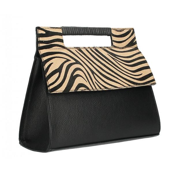 Kožená kabelka 230 zebra Made in Italy
