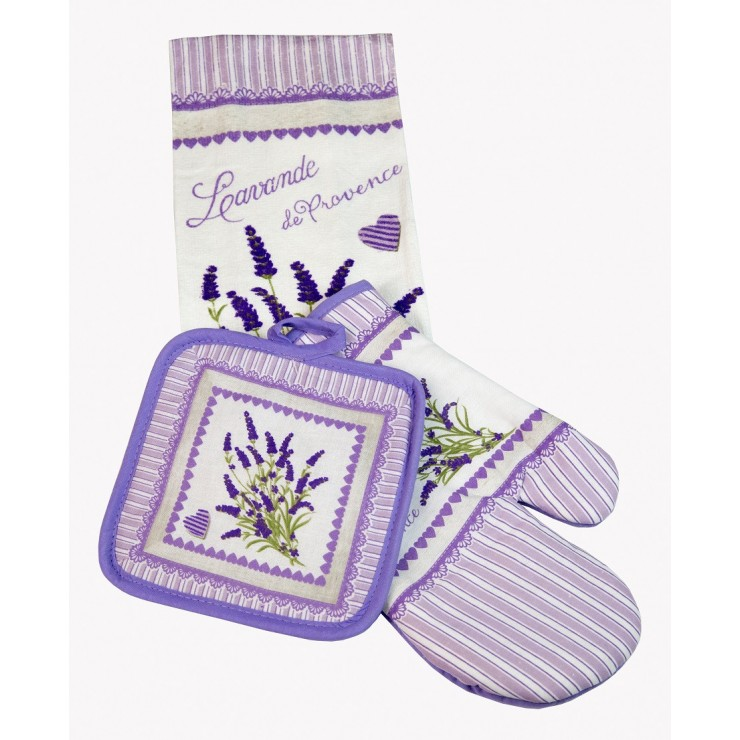 Kitchen glove + pot base + dishcloth MIG445 Lavender