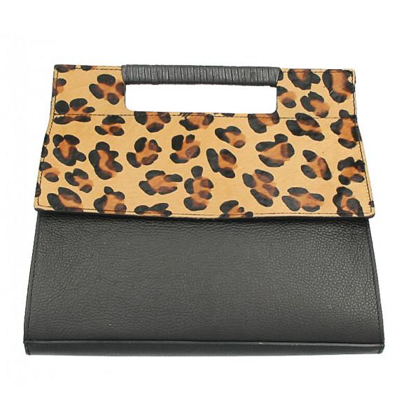 Kožená kabelka 230 leopard Made in Italy