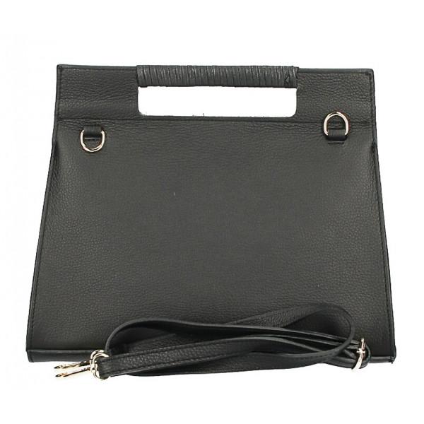 Kožená kabelka 230 hnedá+béžová Made in Italy
