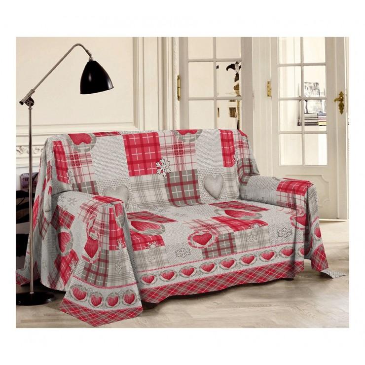 Prikrývka na gauč Hory červené