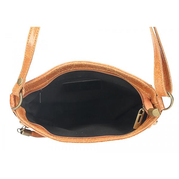 Kožená kabelka na rameno 727 čierna