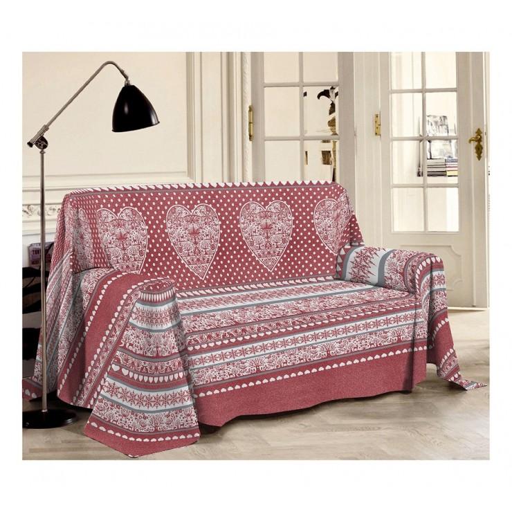 Prikrývka na gauč Tirol červená
