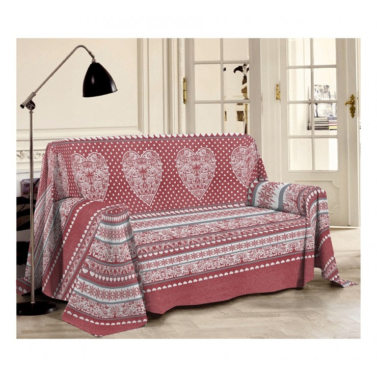 Přikrývka na gauč Tirol rudá
