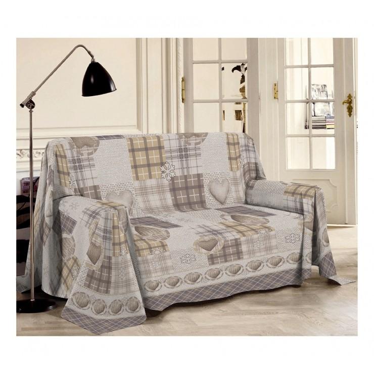 Prikrývka na gauč Hory béžová