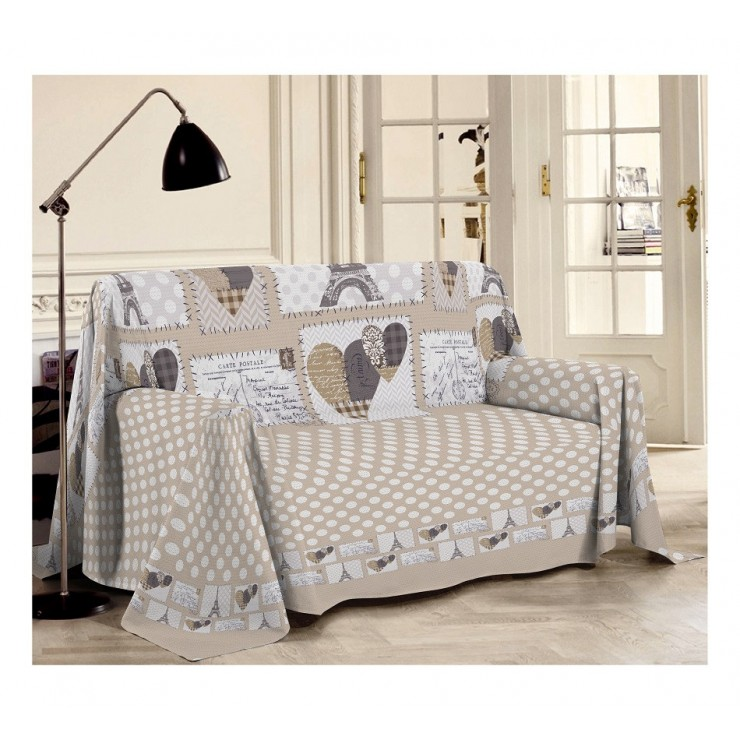 Blanket on the couch Paris beige