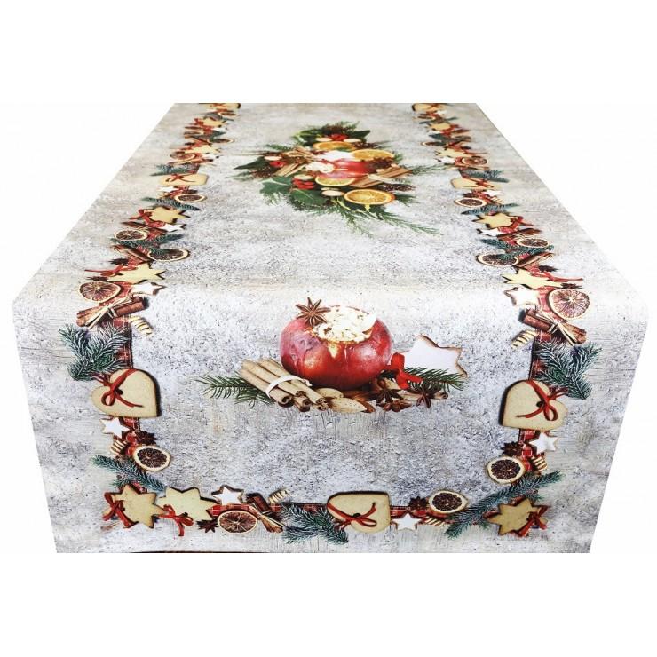 Vianočný behúň na stôl digitálna potlač MIG320A Made in Italy