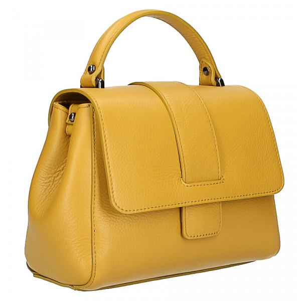 c6c77139aaa3 Talianska kožená kabelka na rameno 631 tmavozelená MADE IN ITALY empty