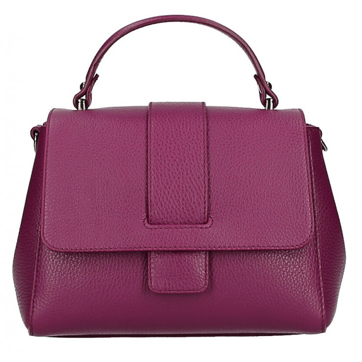 Woman Leather Handbag MI249 bordeaux Made in italy
