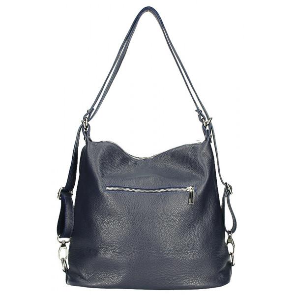 Dámska kožená kabelka/batoh MI258 okrová Made in Italy