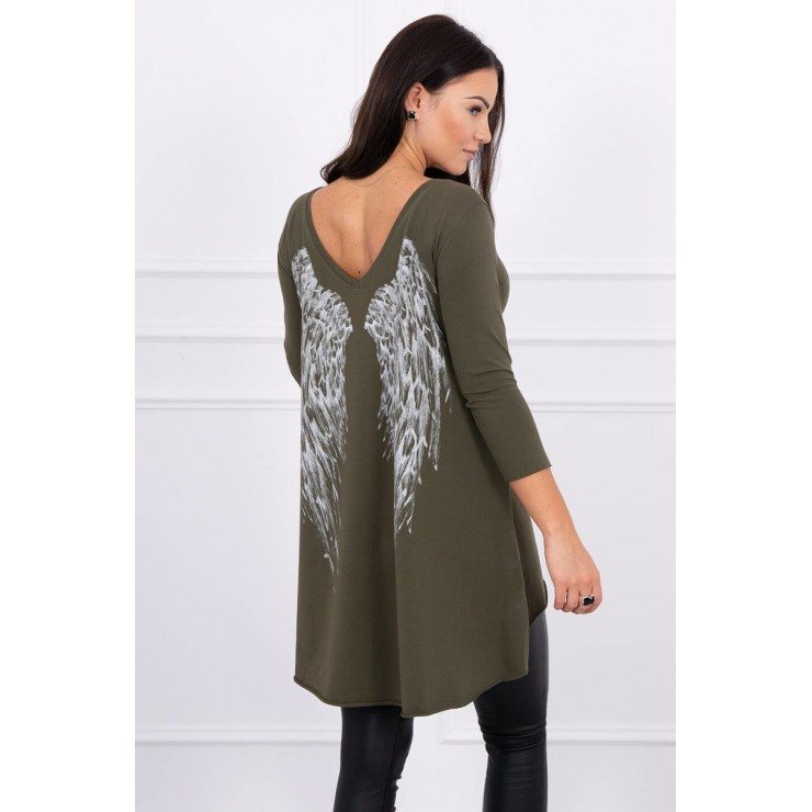 Tunic with wings MI0089 dark taupe