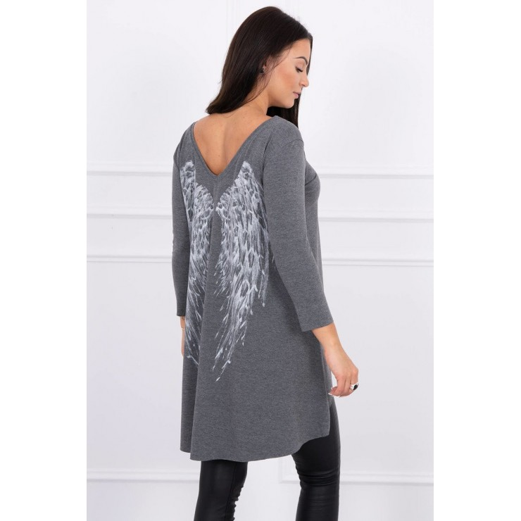Tunic with wings MI0089 graphite