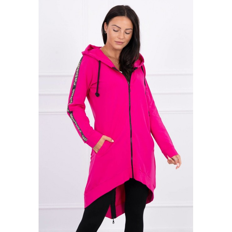 Women's sweatshirt with zipper at the back MI8997 fuxia