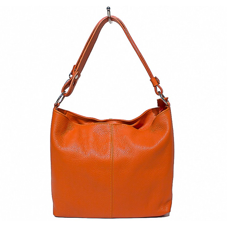Genuine Leather Handbag 729 orange