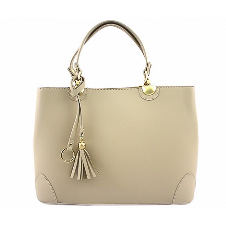 Genuine Leather Handbag 7 beige