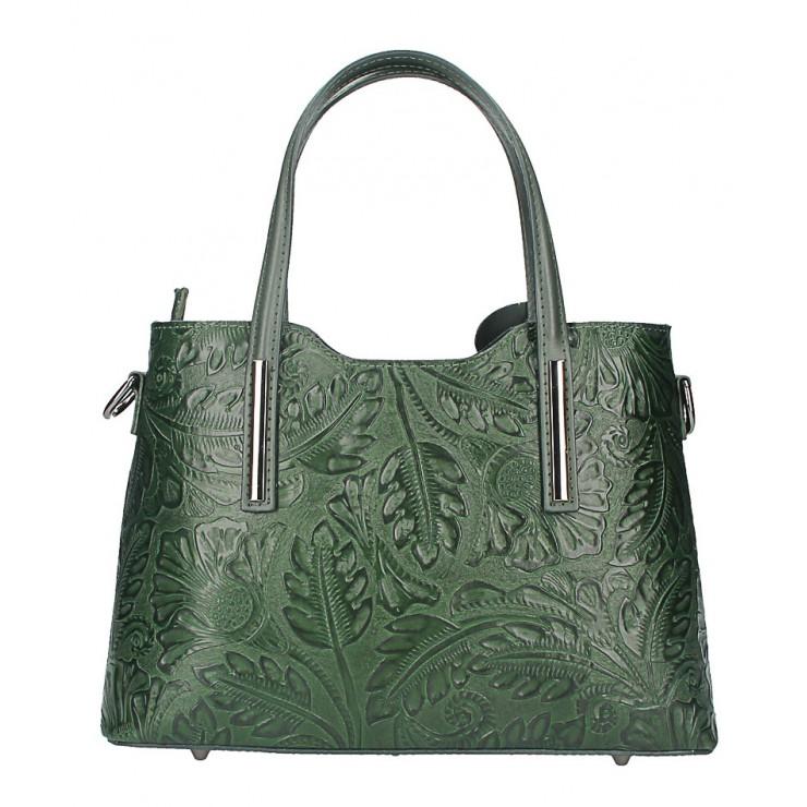 Kožená kabelka 1493 tmavozelená