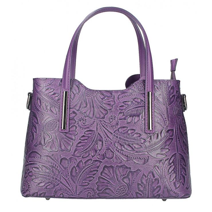Kožená kabelka 1493 fialová