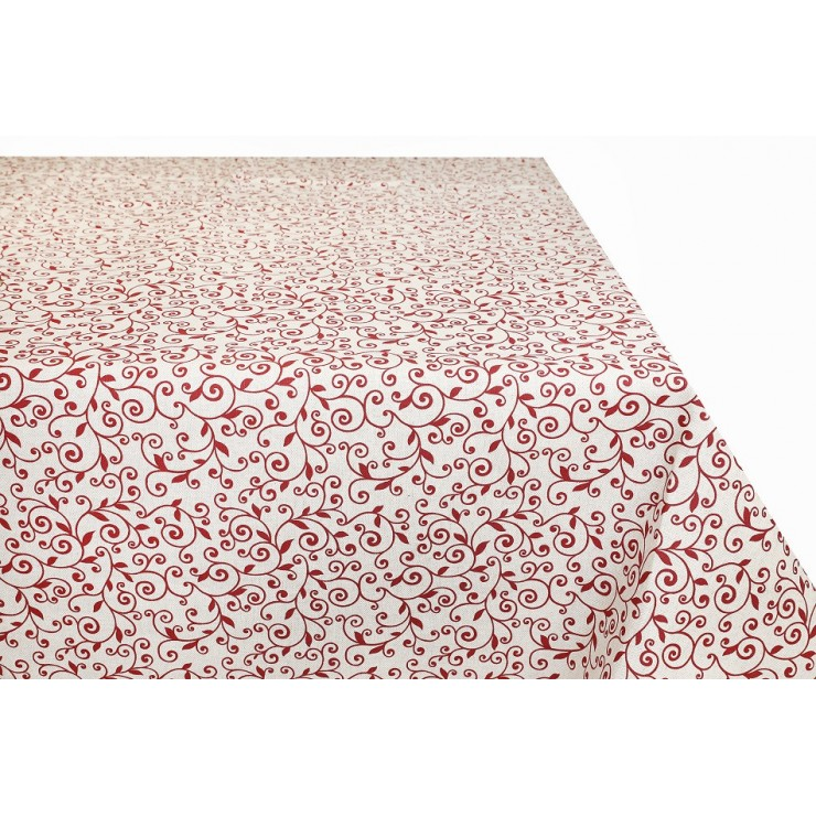 Tablecloth red leaves  Made in Italy