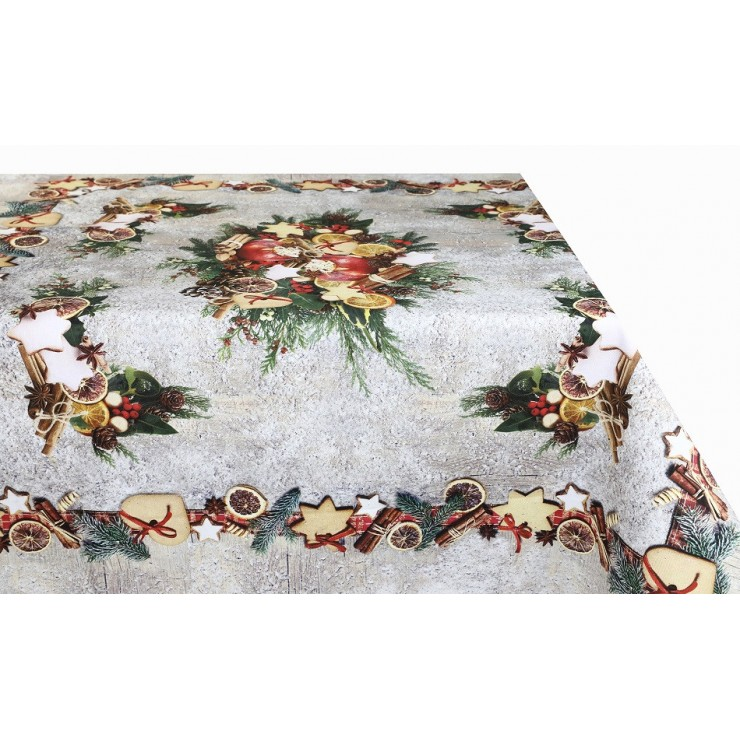 Cotton Christmas tablecloth MIG319 Made in Italy