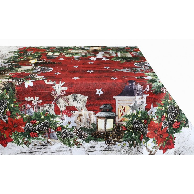 Cotton Christmas tablecloth MIG319A Made in Italy