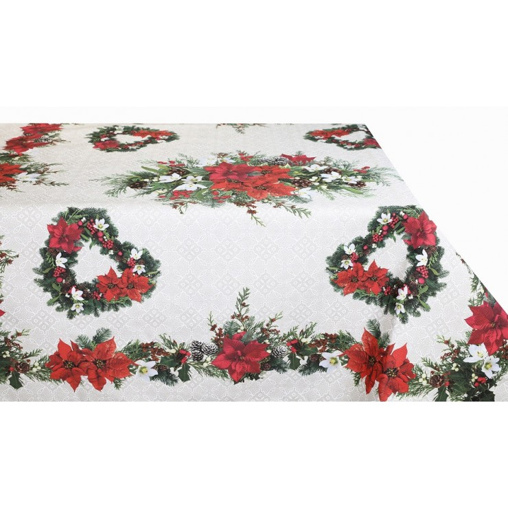 Cotton Christmas tablecloth MIG319B Made in Italy