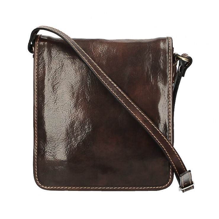 Leather Strap bag 152 dark brown