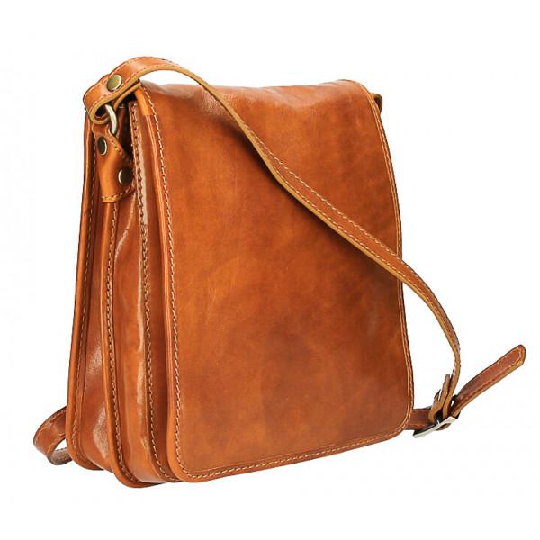 Pánska kožená taška 152 tmavohnedá Hnedá