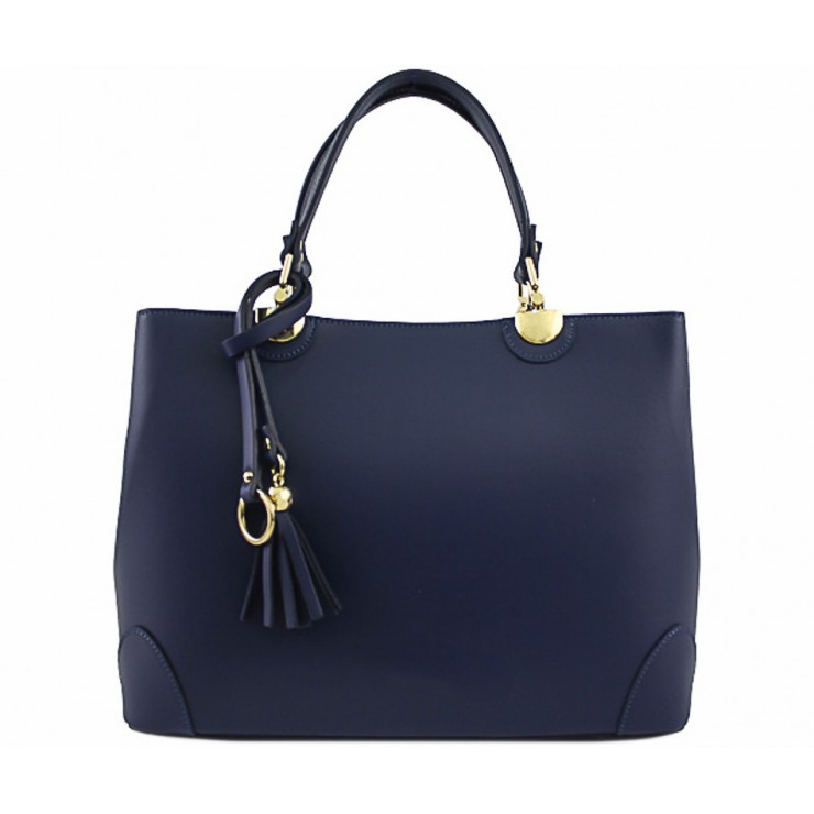 Genuine Leather Handbag 7 blue