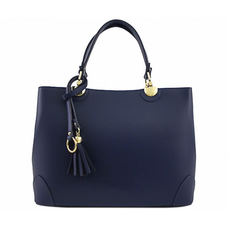 Kožená kabelka 7 modrá