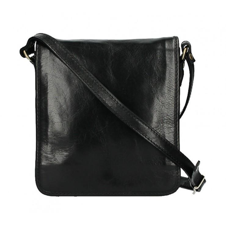 Pánska kožená taška 152 čierna
