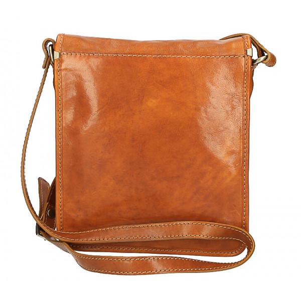 Pánska kožená taška 152 červená Červená