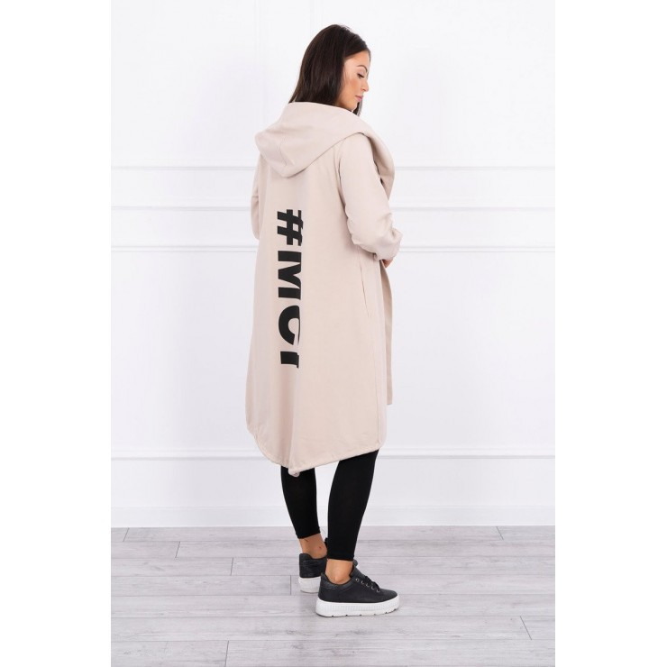 Long cardigan MI9005 beige