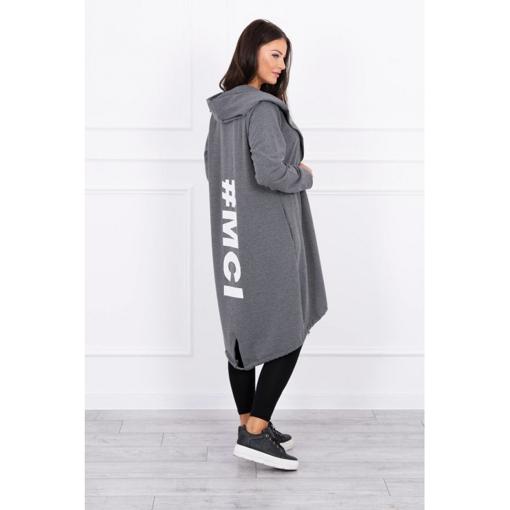 Long cardigan MI9005 graphite
