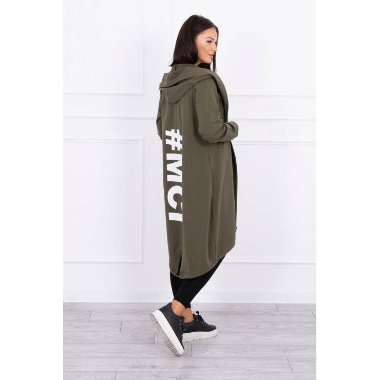 Long cardigan MI9005 dark taupe
