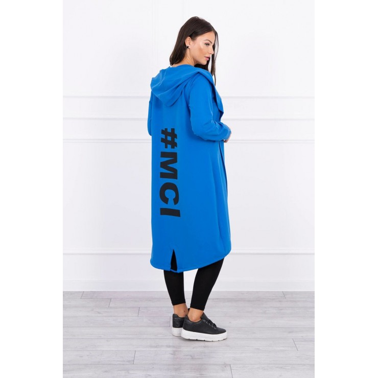 Long cardigan MI9005 bluette