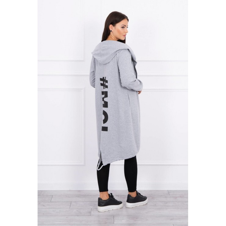 Long cardigan MI9005 gray