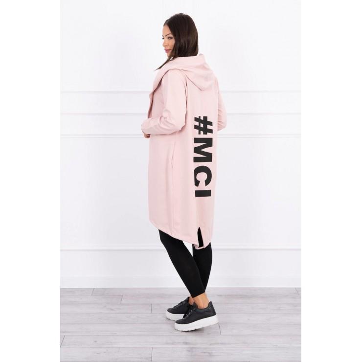 Cardigan da donna MI9005 rosa cipria