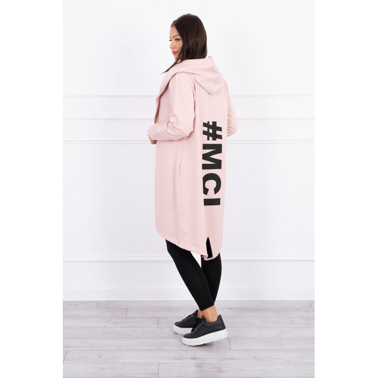 Long cardigan MI9005 powder pink