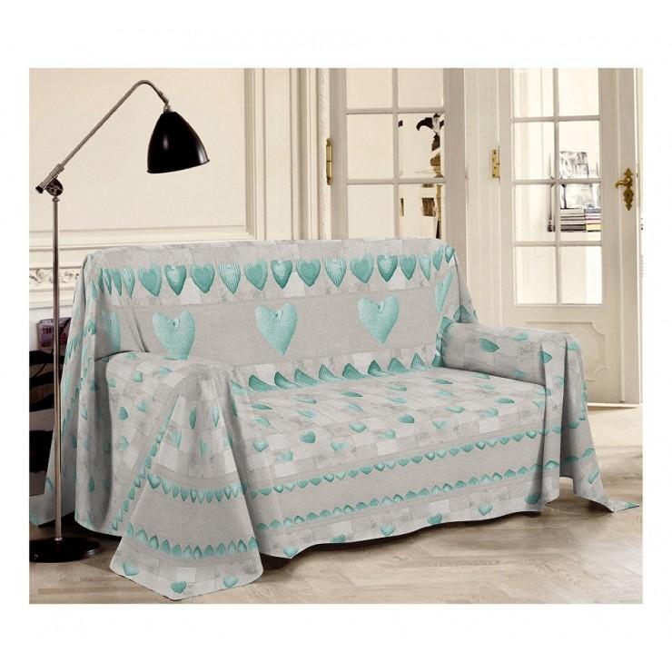 Přikrývka na gauč Patchwork zelená