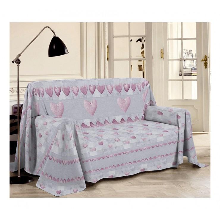 Přikrývka na gauč Patchwork růžová