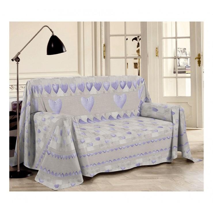 Přikrývka na gauč Patchwork fialová