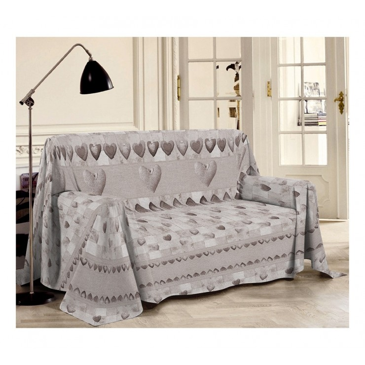 Prikrývka na gauč Patchwork béžová