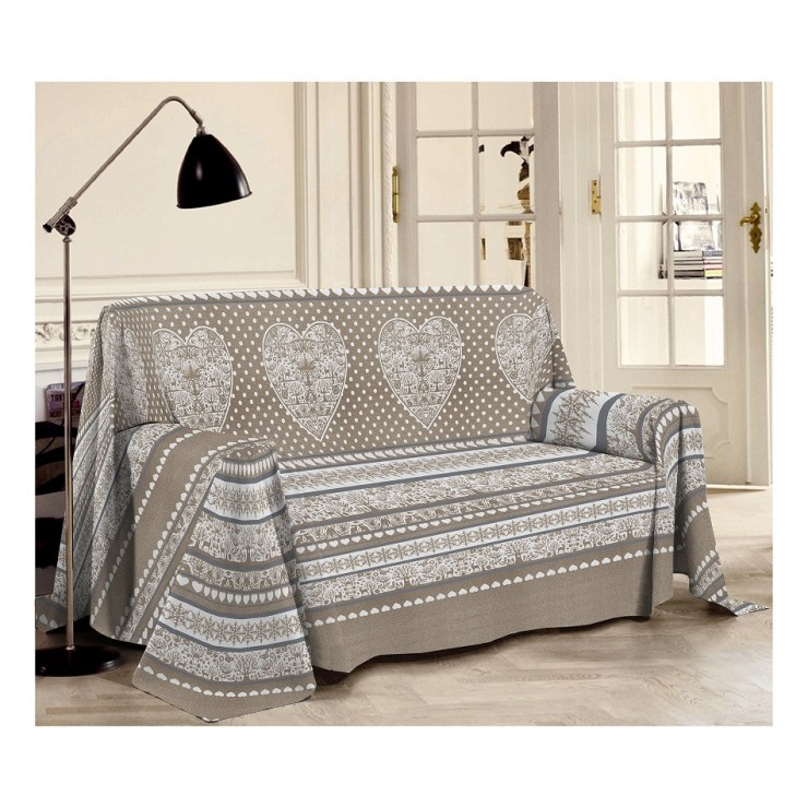 Blanket on the couch Tirol beige